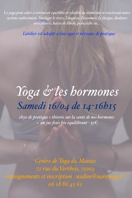 yoga & les hormones