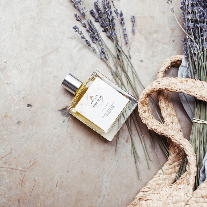 huile beauté cheveux et peau