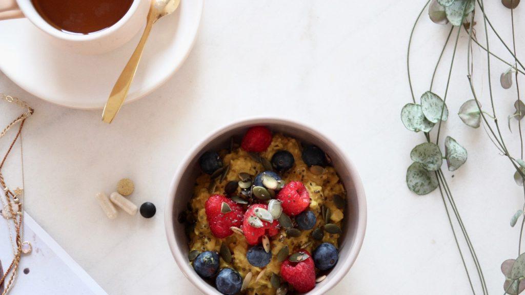 petit déjeuner sain golden porridge