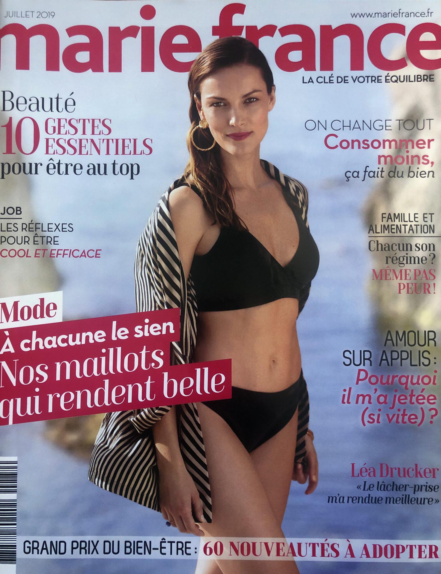 Publication dans Marie France juillet 2019